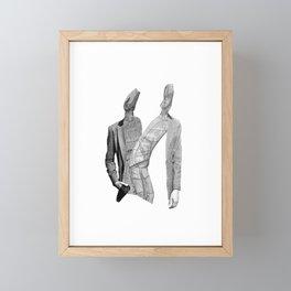 Futuristic Couple Framed Mini Art Print