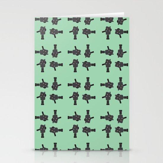 camera 02 pattern Stationery Cards