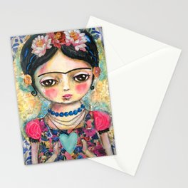 The heart of Frida Kahlo  Stationery Cards