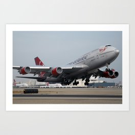 Virgin Atlantic departing LAX Art Print