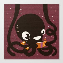 Octopus Book Bag Canvas Print