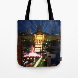 Barcelona at Night Tote Bag