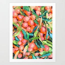 Fruit Garden #painting #digitalart #nature Art Print