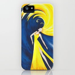 Abstract Wave Girl iPhone Case