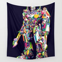 Transformer in pop art Wall Tapestry