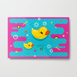 Rubber Ducky Party Time Metal Print