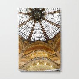 Galeries Lafayette in Color Metal Print