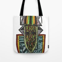 rasta Tote Bags featuring African Rasta by Kwaku Osei Studio