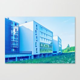 Apartment buildings with outdoor facilities Canvas Print