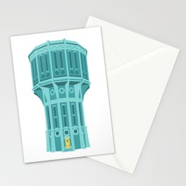 Water tower Holland blue Stationery Cards