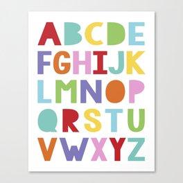 colourful alphabet Canvas Print