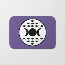 Triple Goddess Full Moon - on Ultra Violet Bath Mat