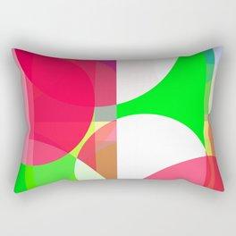 Colorful Abstract Circles & Stripes Rectangular Pillow