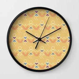 Summer Warli Print Wall Clock