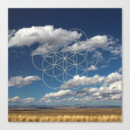 Seed of Life in Clouds Canvas Print