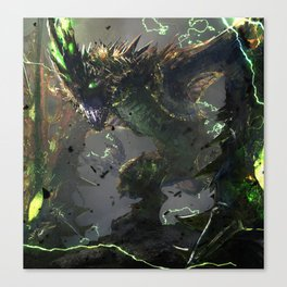 The Thunderclaw Wyvern Canvas Print