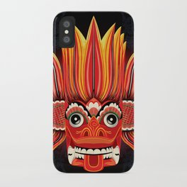 Sri Lankan Dance Mask: Fire Demon / Gini Raksa iPhone Case
