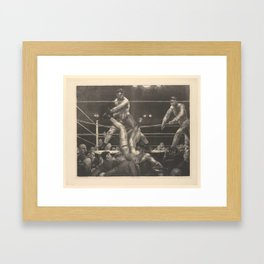 Dempsey and Firpo George Bellows (American, Columbus, Ohio 1882–1925 New York) Framed Art Print