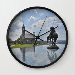 Chapel and Infinity Pool Wall Clock