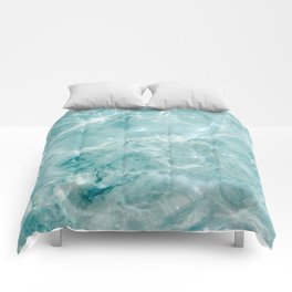 Clear blue water | Colorful ocean photography print | Turquoise sea Comforters