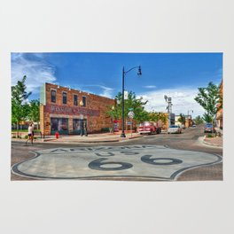 Standin on the Corner Route 66 in USA Rug