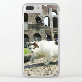 The Cat of the Colosseum Clear iPhone Case