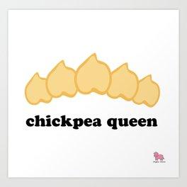Chickpea Queen Art Print