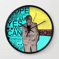 obama Wall Clocks featuring Barack Obama by kaseysmithcs