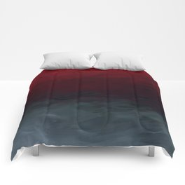 Inverted Fade Crimson Comforters