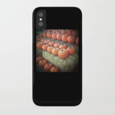 Pumpkins On Display Slim Case iPhone X