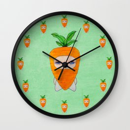 A Boy - Carrot Wall Clock
