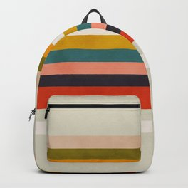 modern abstract stripe geometric Backpack