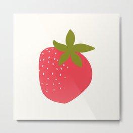 Modern Strawberry Summer Fruit Metal Print