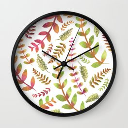 Fall Changing Leaves Wall Clock