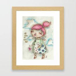 A Hope-Spreading Fairy Framed Art Print