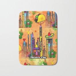 Mexico City Popart by Nico Bielow Bath Mat