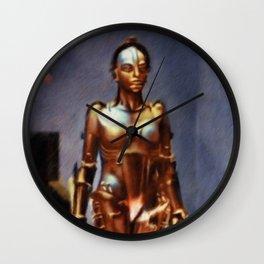 Maria, Robot from Metropolis Wall Clock