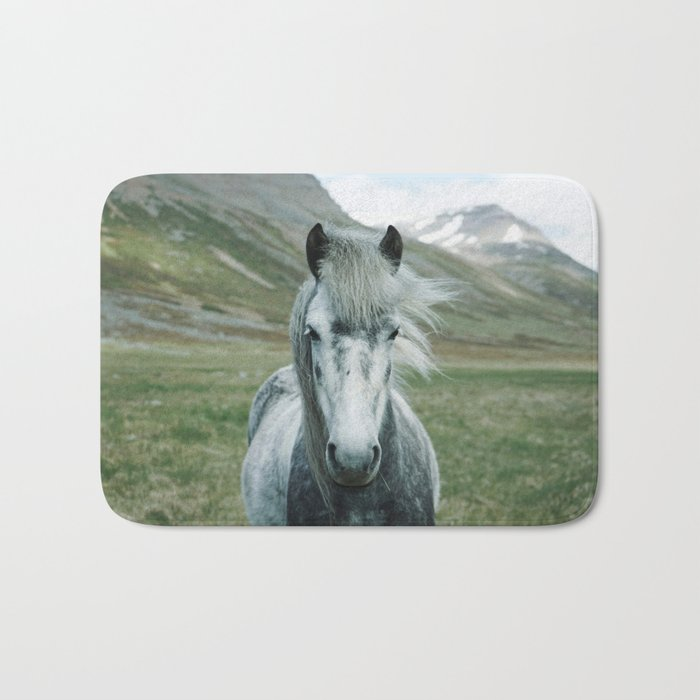 Grey Horse Bath Mat