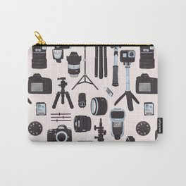 Vintage Camera photography film movie print Carry-All Pouch