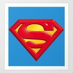 Superman logo Art Print