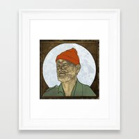 steve zissou Framed Art Prints featuring Steve Zissou by Philipp Banken