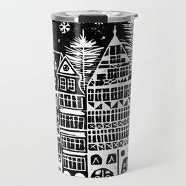 Linocut Holidays Travel Mug