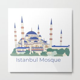 Istanbul Mosque Metal Print