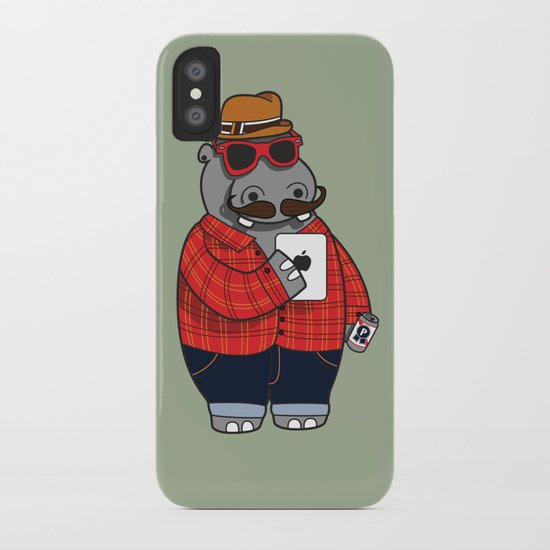 Hipposter iPhone Case