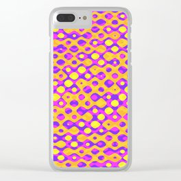 Brain Coral Pink Banded Cross Small Polyps - Coral Reef Series 029 Clear iPhone Case