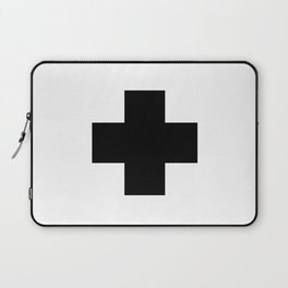 Black Swiss Cross Laptop Sleeve