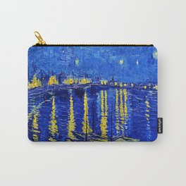 Starry Night Over Rhone Carry-All Pouch