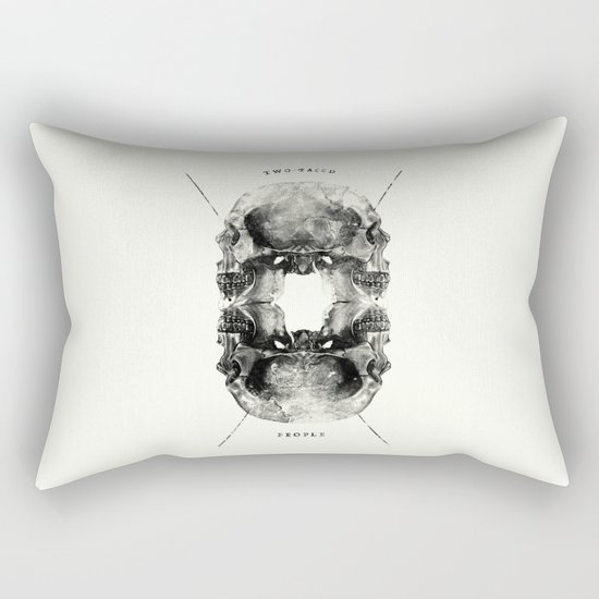 Two-Faced People Rectangular Pillow