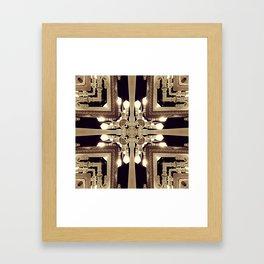 Urban Light Noir Framed Art Print