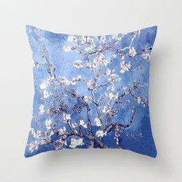 Vincent Van Gogh Almond BlossomS Blue Throw Pillow